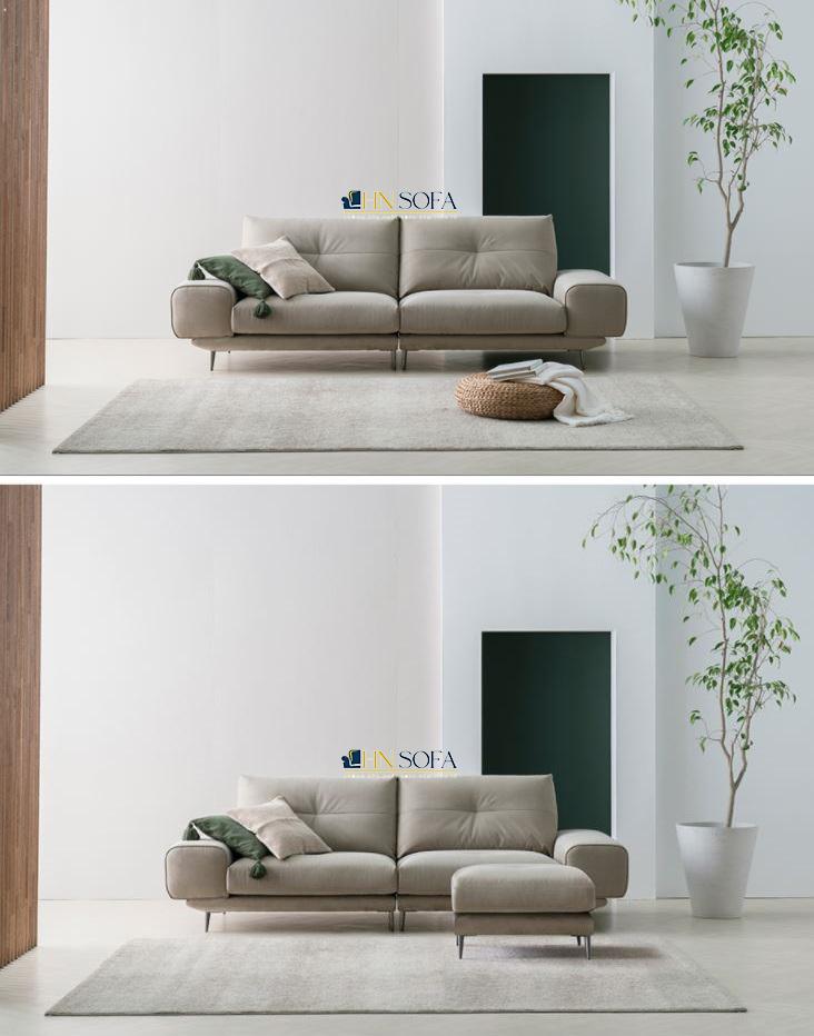 Mẫu sofa nỉ Hàn rút múi lưng cao cấp HNSN15