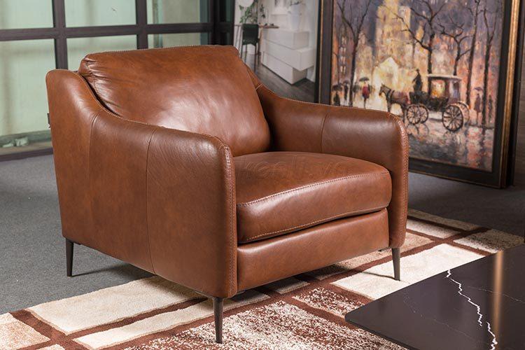 Mẫu sofa da thật màu nâu bò