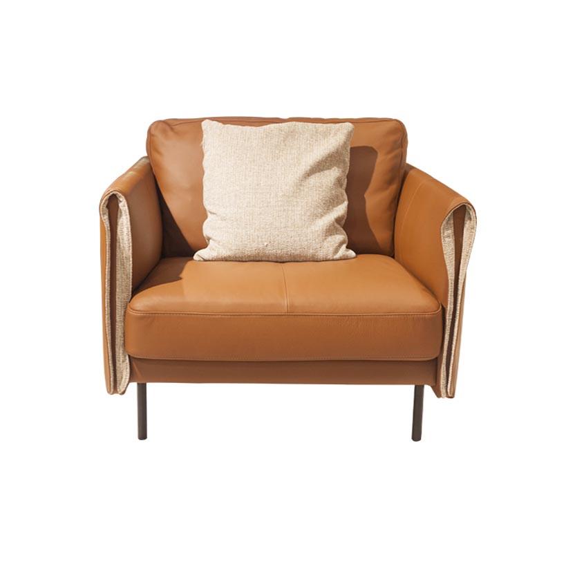 Sofa đơn da bò công nghiệp