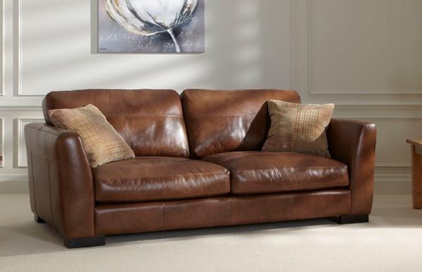 Sofa văng da bò hiện đại