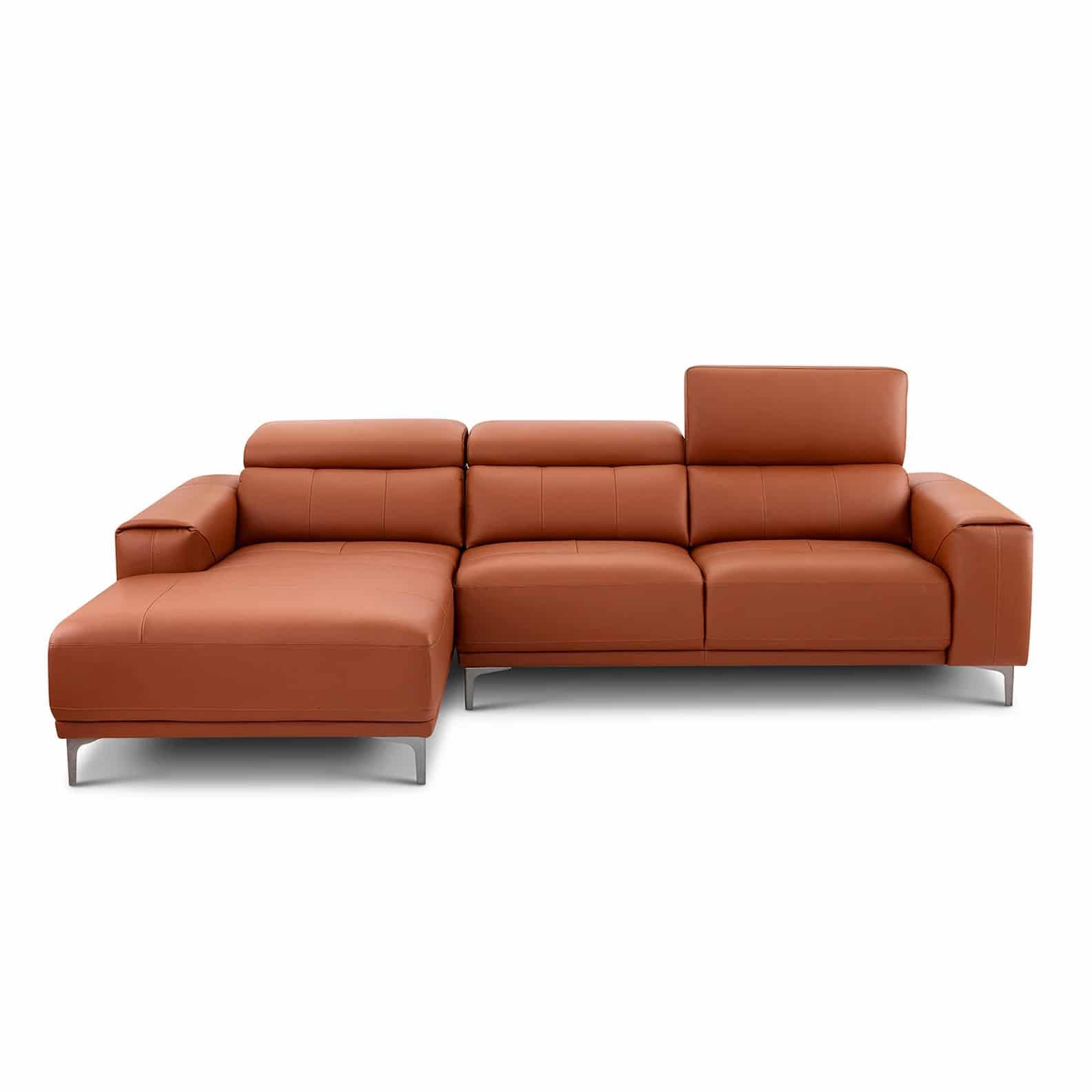 Ghế sofa da bò thật góc L