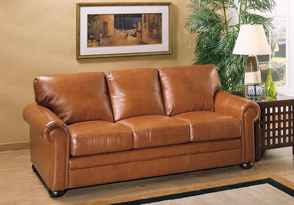 Sofa da thật tay cách điệu mới mẻ