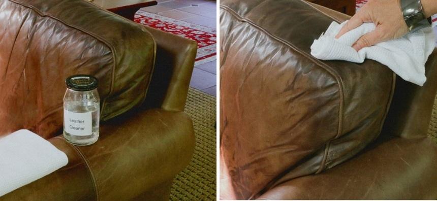 Làm sạch bề mặt vết rách của sofa