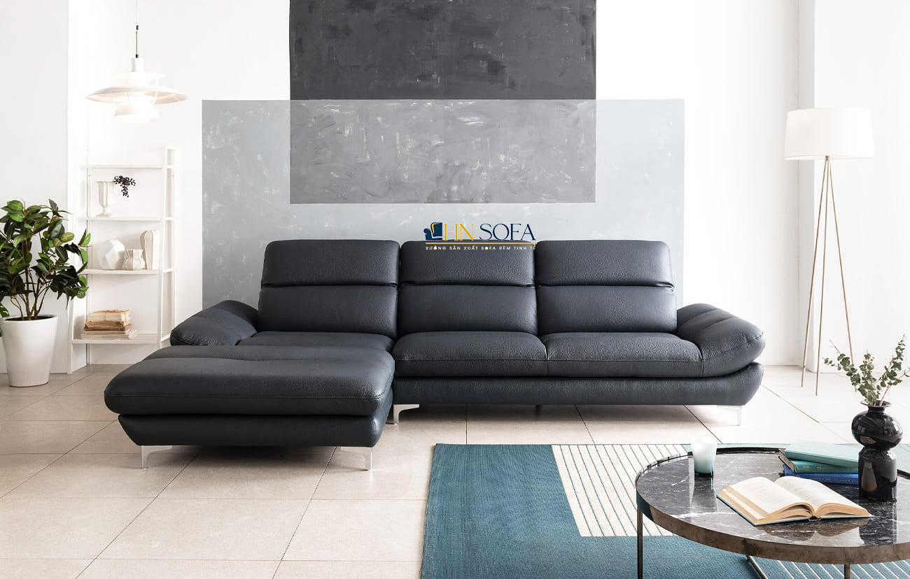 Sofa góc L giả da Hàn Quốc